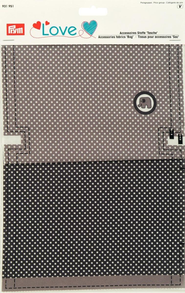 Ткань для изготовления сумочки Prym Love. Слон, 21 х 30 см, 2 шт931951