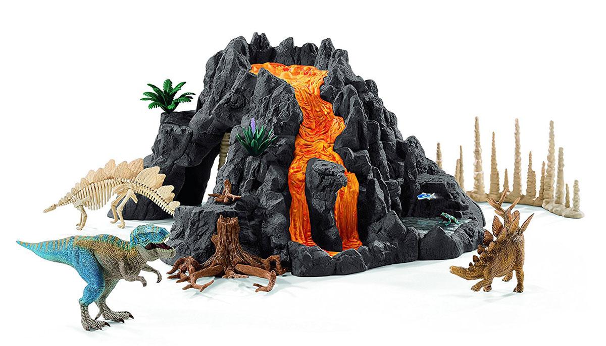 Schleich Игровой набор Гигантский вулкан с динозаврами schleich игровой набор пещера со львом