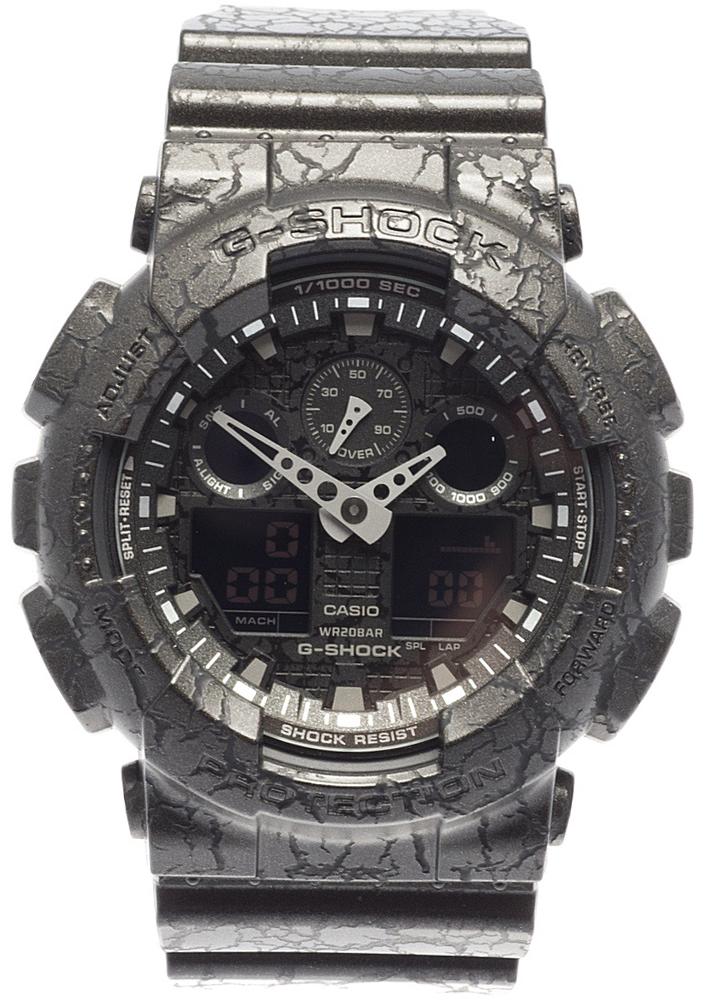 Наручные часы мужские Casio G-Shock, цвет: черный. GA-100CG-1AGA-100CG-1A