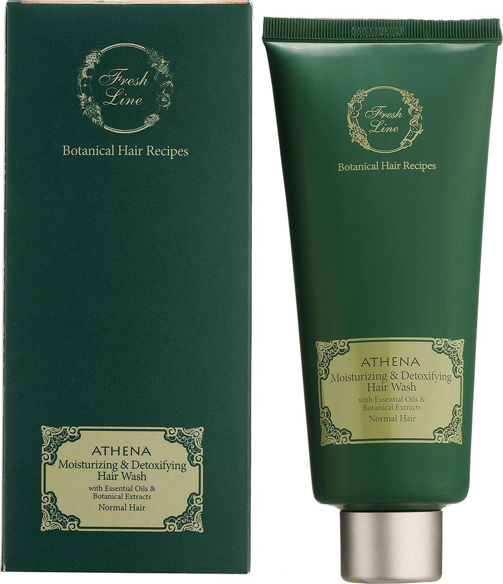 Fresh Line Шампунь для всех типов волос увлажняющий Афина, 200 мл910362Восстанавливающий, увлажняющий шампунь с греческим органическим оливковым маслом. В качестве пенящего агента в шампуне используется натуральный компонент кокоглюкозид (на основе вытяжки из кокоса и глюкозы). Шампунь мягко очищает волосы, способствует их увлажнению, питанию и восстановлению. Содержит так же сок алоэ, эфирные масла лавра и розмарина, дающие дополнительное увлажнение волосам, укрепляющие их и способствующие росту волос.