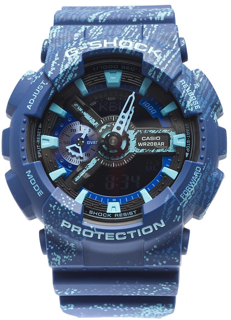 Наручные часы мужские Casio G-Shock, цвет: синий, бирюзовый. GA-110TX-2AGA-110TX-2A