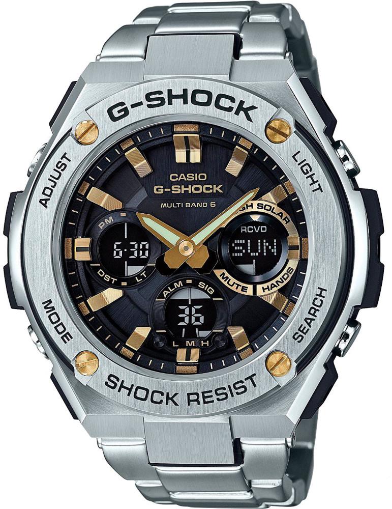 Наручные часы мужские Casio G-Shock, цвет: стальной, черный. GST-W110D-1A9GST-W110D-1A9