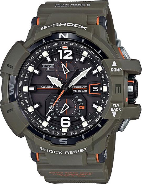 Наручные часы мужские Casio G-Shock, цвет: хаки. GW-A1100KH-3AGW-A1100KH-3A