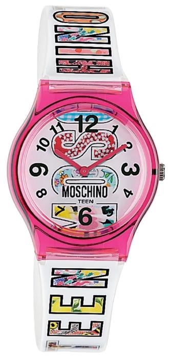 Наручные часы для девочки Moschino, цвет: белый, розовый. MW0316MW0316Наручные часы Moschino, кварцевые, корпус из пластика