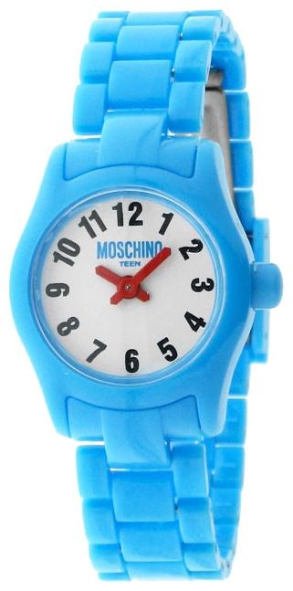 Наручные часы для девочки Moschino Teen, цвет: голубой. MW0326MW0326Наручные часы Moschino, кварцевые, корпус из пластика