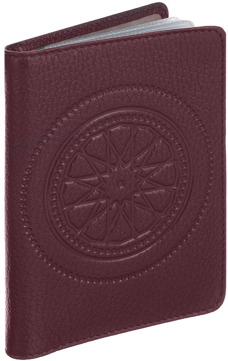 """Бумажник водителя женский Fabula """"Talisman"""", цвет: бордовый. BV.66.SN"""