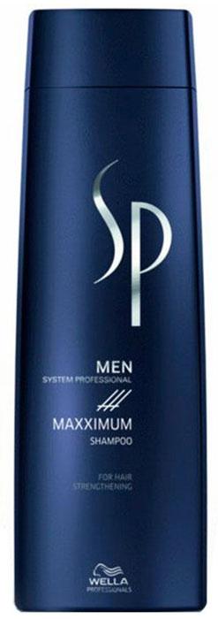 Wella SP Максимум шампунь против выпадения волос Men Maximum Shampoo, 1000 млБ33041_шампунь-барбарис и липа, скраб -черная смородинаШампунь против выпадения волос Maximum Shampoo разработан лучшими немецкими специалистами специально для укрепления ослабленных волос и подготавливает волосы и кожу головы к воздействию Maximum Tonic. Входящий в состав шампуня, ментол активизирует кровообращение, глубоко питает луковицы волос, обладает превосходными освежающими свойствами. Пантенол увлажяет волосы, а кофеин стимулирует функции кожи головы.