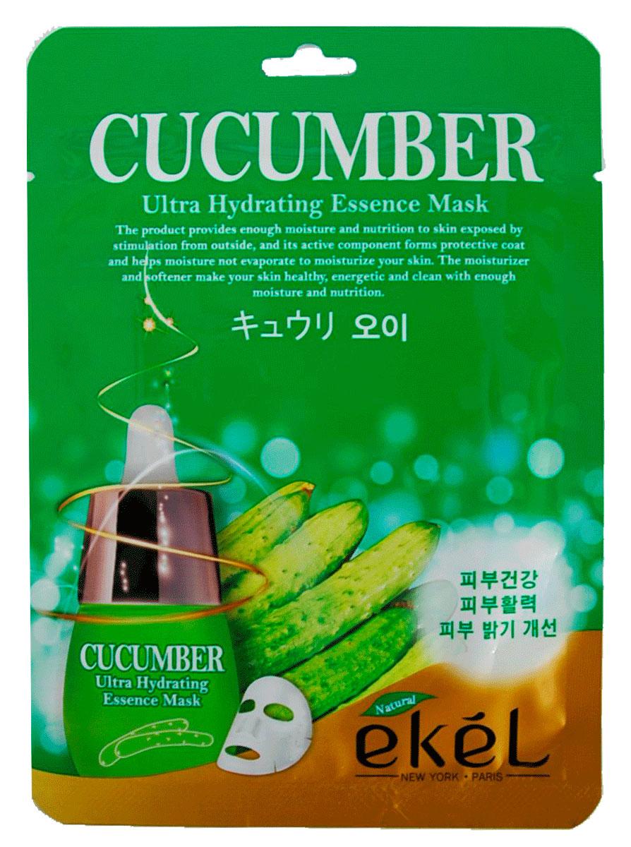 Ekel Маска тканевая с экстрактом огурца, 25 гр.538778Ekel Cucumber Ultra Hydrating Essence Mask - Увлажняющая тканевая маска от отечности кожи с экстрактом огурца, 25 гр. Отлично увлажняет кожу, выравнивает и улучшает цвет лица. Экстракт огурца содержит полисахариды, оказывающие увлажняющее действие, минеральные вещества (железо, калий, кальций, фосфор) витамины В и С. Комплекс минеральных веществ и солей огурца положительно влияет на клеточный обмен, чем и объясняется эффект снятия усталости и устранения отечности. Экстракт огурца содержит большое количество калия, который при абсорбировании выводит вредные вещества и успокаивает кожу, а так же витамин С, который помогает синтезировать коллаген.