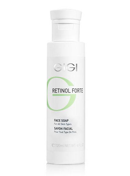 GIGI Мыло жидкое для всех типов кожи Retinol Forte, 120 мл178Бесщелочное мыло для Для всех типов кожи хорошо очищает кожу, не нарушая кислотно-щелочного баланса. Действие: Оказывает противовоспалительное и смягчающее действие, усиливает проницаемость кожи для активных ингредиентов из ретиноловых кремов. Активные ингредиенты: гликолевая кислота, ретинилпальмитат, алантоин, лауретсульфат натрия.