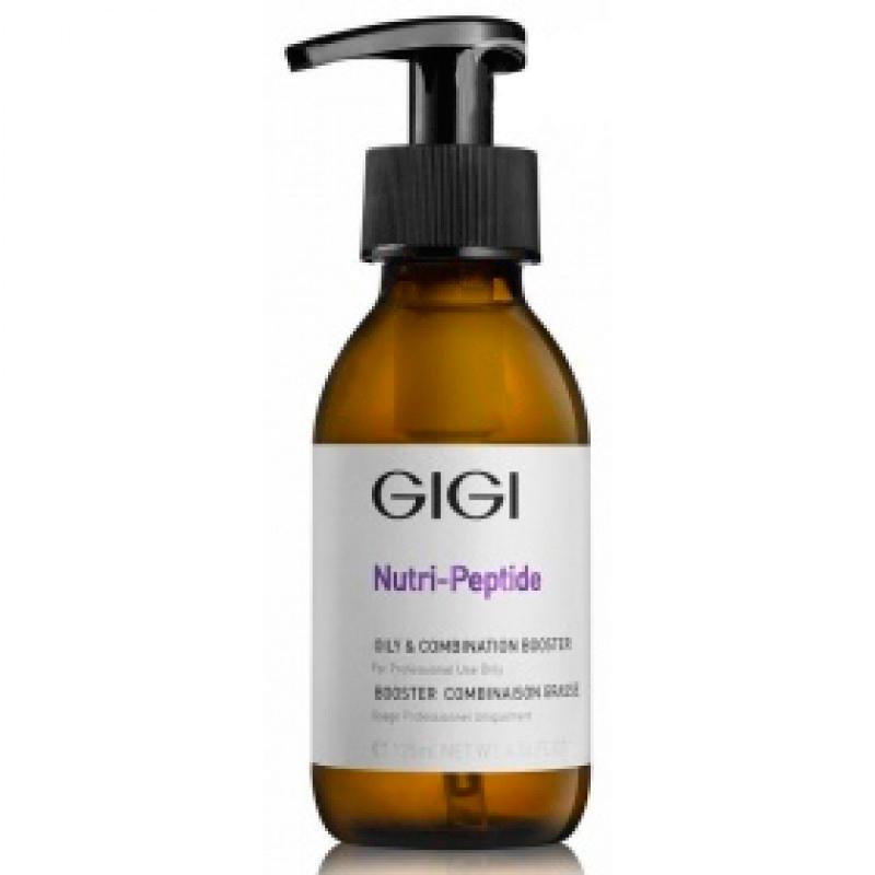 GIGI Концентрат-бустер для комбинированой и жирной кожи Nutri-Peptide Oily and Combination Booster, 125 млgi11534Бустер для профессионального ухода за жирной кожей в условиях клиники. Регулирует выработку себума и сохраняет поры чистыми. Препарат содержит различные экстракты, обладающие успокаивающими и антибактериальными свойствами, а также витамин А, обеспечивающий отшелушивание ороговевших клеток кожи и придающий ей мягкость. При регулярном применении бустера кожа вновь становится гладкой и матовой, а несовершенства на ее поверхности уменьшаются. Активные ингредиенты: SEPICONTROL, CANADIAN WILLOWHERB 5% CLEAR, VITAMIN A.