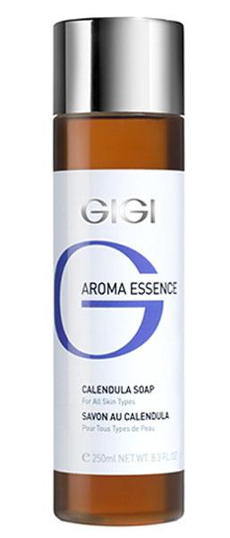 GIGI Мыло жидкое Календула для всех типов кожи Aroma Essence, 250 млGIGI20Легкое жидкое мыло с нежным ароматом моментально расслабляет кожу. Действие: Снимает напряжение и стресс, великолепно очищает и смягчает, не нарушая рН и барьер кожи. Активные ингредиенты: экстракты календулы, ромашки, розы столистной, крапивы, гамамелиса, конского каштана, шалфея, мелиссы, витамин Е.