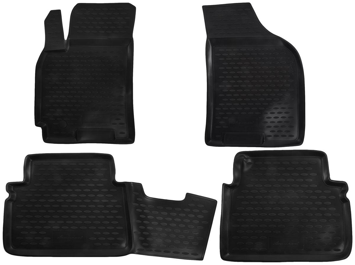 Набор автомобильных ковриков Novline-Autofamily для Chevrolet Lacetti 2004-, в салон, 4 штDFS-524Набор автомобильных ковриков Novline-Autofamily, изготовленный из полиуретана, состоит из 4 ковриков, которые учитывают все особенности каждой модели автомобиля и полностью повторяют контуры пола. Полиуретановые автомобильные коврики для салона произведены из высококачественного материала, который держит форму, прочный и не пачкает обувь. Коврики в салон не только улучшат внешний вид салона вашего автомобиля, но и надежно уберегут его от пыли, грязи и сырости, а значит, защитят кузов от коррозии. Полиуретановые коврики для автомобиля гладкие, приятные и не пропускают влагу. Ковры для автомобилей надежно крепятся на полу и не скользят, что очень важно во время движения. Чистятся коврики очень просто: как при помощи автомобильного пылесоса, так и различными моющими средствами. Набор подходит для Chevrolet Lacetti с 2004 года выпуска.