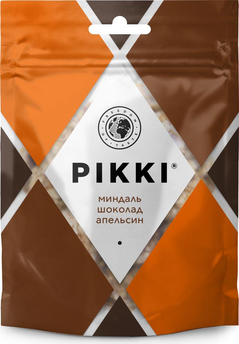 Pikki Миндаль-Шоколад-Апельсин конфеты орехово-фруктовые, 50 г0120710Полезные снеки из орехов, злаков и сухофруктов для быстрого перекуса.