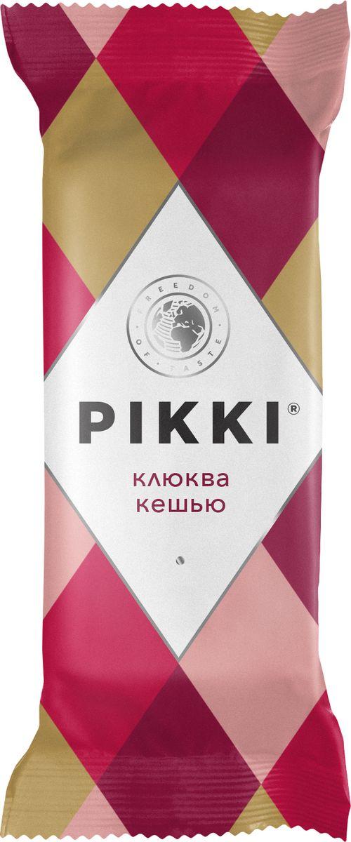 Pikki Клюква-Кешью батончик орехово-фруктовый мягкий, 35 г0120710Полезные снеки из орехов, злаков и сухофруктов для быстрого перекуса.