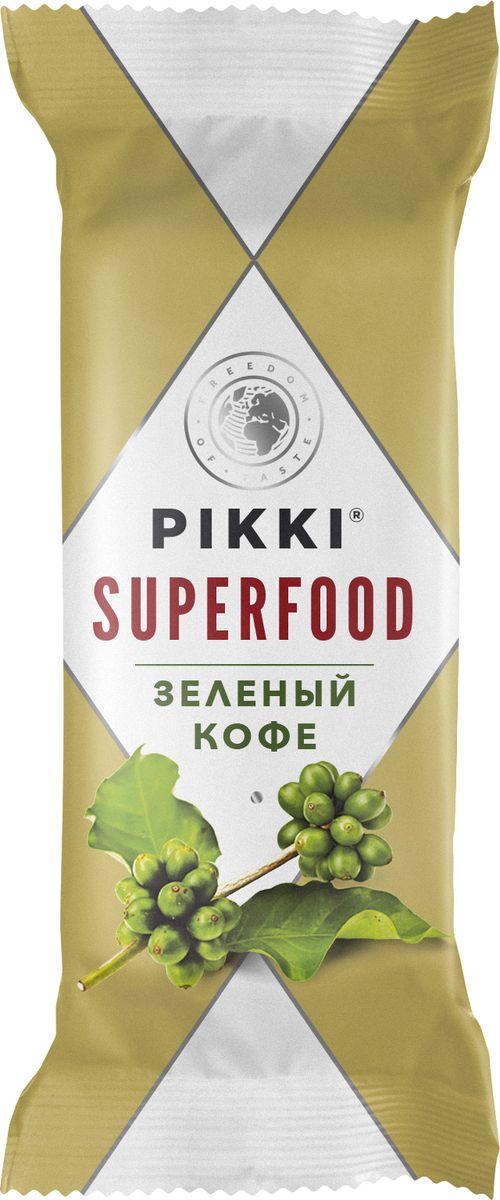 Pikki Зеленый кофе батончик орехово-фруктовый, 35 гУТ040810395Полезные снеки из орехов, злаков и сухофруктов для быстрого перекуса.