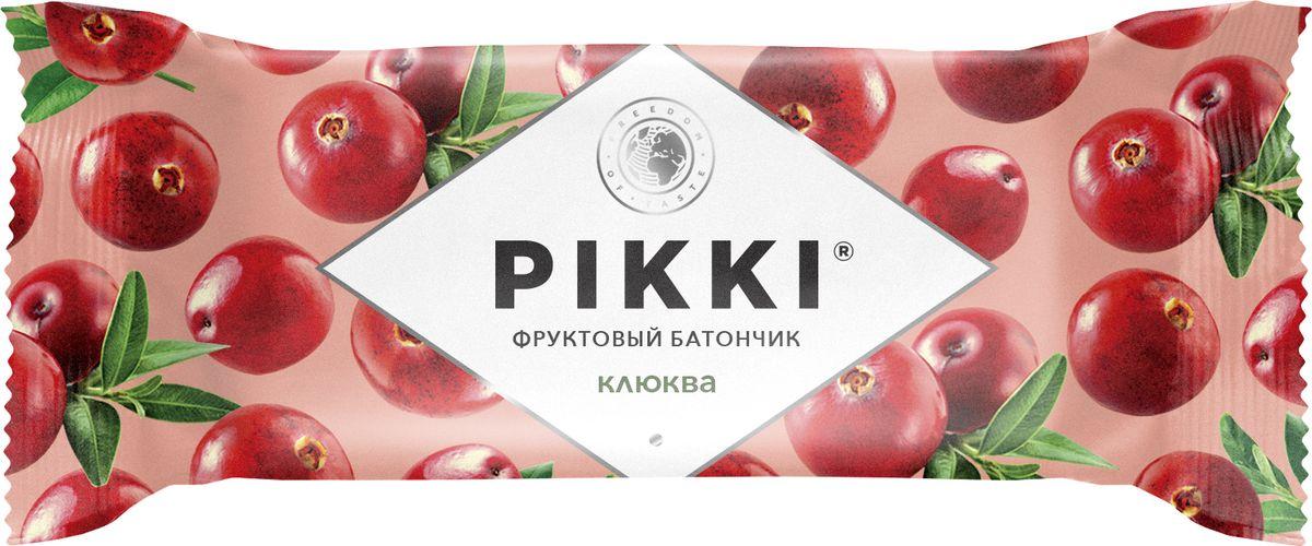 Pikki Клюква-Яблоко батончик орехово-фруктовый, 25 гУТ040810404Полезные снеки из орехов, злаков и сухофруктов для быстрого перекуса.