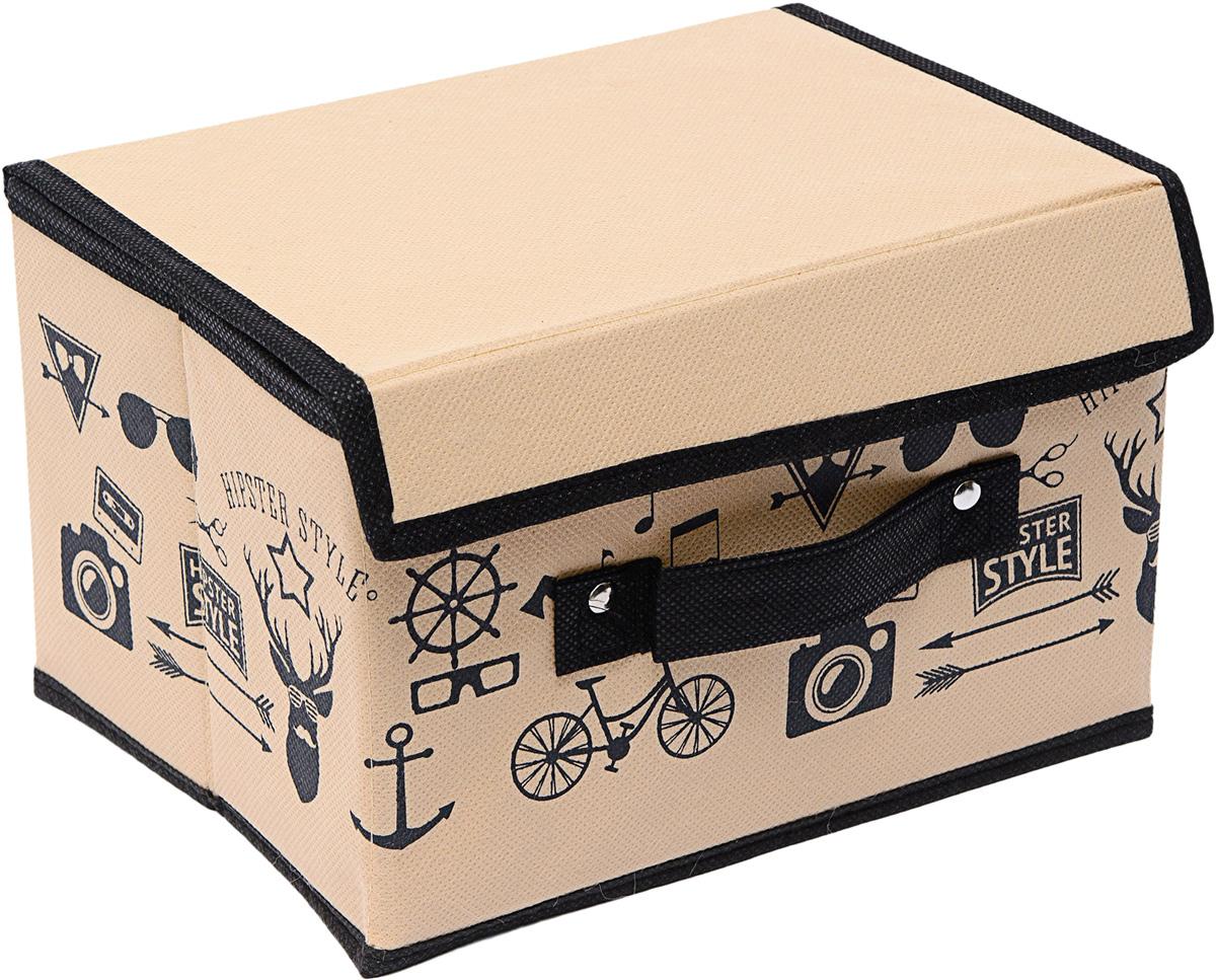 Коробка Homsu Hipster Style, с крышкой, 19 х 25 х 16 смHOM-764Универсальная коробочка для хранения любых вещей. Оптимальный размер позволяет хранить в ней любые вещи и предметы. Имеет жесткие борта и крышку, что является гарантией сохранности вещей. 190x250x160