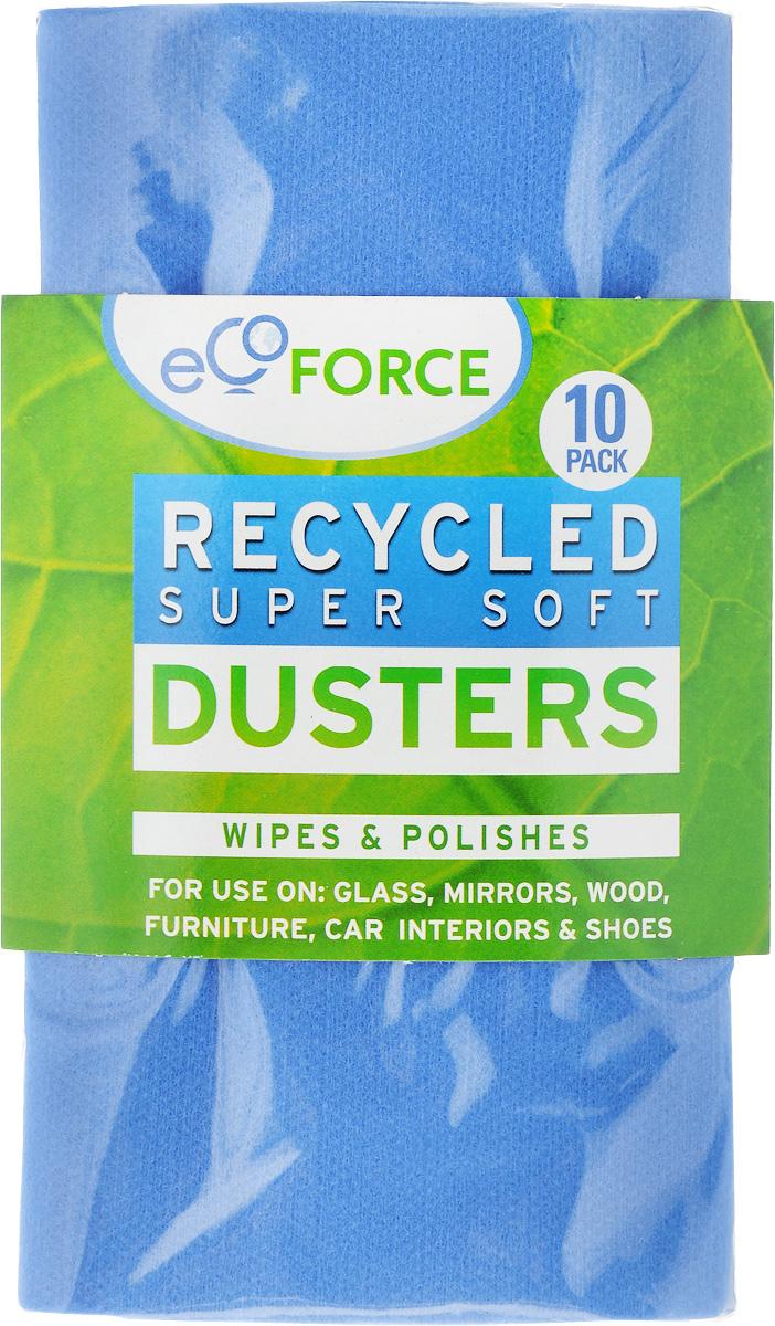 Салфетка для уборки EcoForce, супермягкая, цвет: синий, 10 шт116-02-1406/4065_голубойСалфетка для уборки EcoForce изготовлена из вискозы и полиэстера, на 97% состоит из перерабатываемого сырья. Предназначена для сухой и влажной уборки с моющими средствами. Такой салфеткой удобно вытирать пыль и полировать стекло, зеркала, мебель, салон автомобиля. В комплекте 10 салфеток.