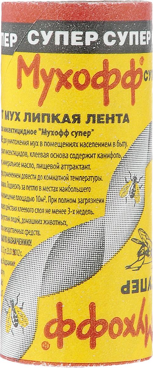 Липкая лента от мух Мухофф СуперOF02020021Липкая лента от мух Мухофф Супер предназначена для уничтожения мух в помещениях. Расход: 2-3 ленты на 10 м2.