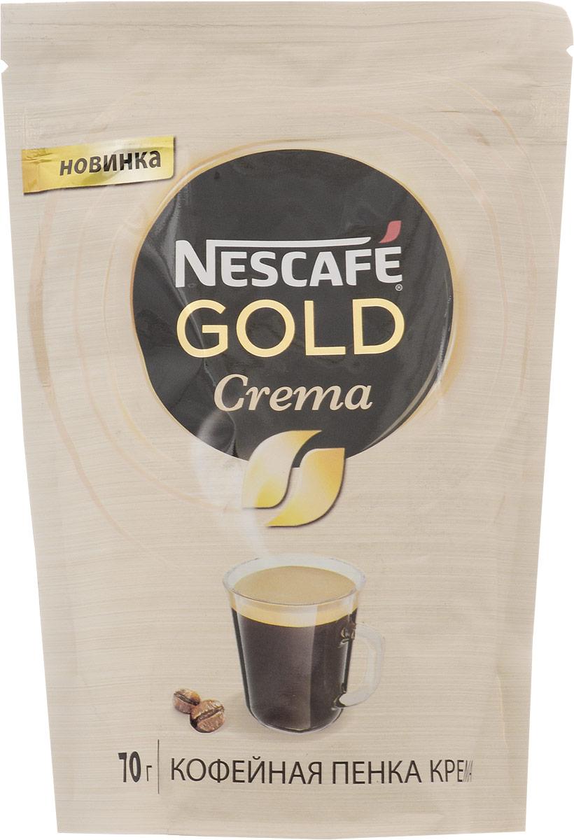 Nescafe Gold Crema кофе растворимый, 70 г0120710Nescafe Gold Crema - это особый бленд на основе арабики в сочетании с кофейной пенкой, подчеркивающей его преимущества. Нежность вкуса Nescafe Gold Crema отлично подходит для второй половины дня. Нежная кофейная пенка Nescafe Gold Crema сохраняет богатый аромат и нежность вкуса арабики в вашей чашке.