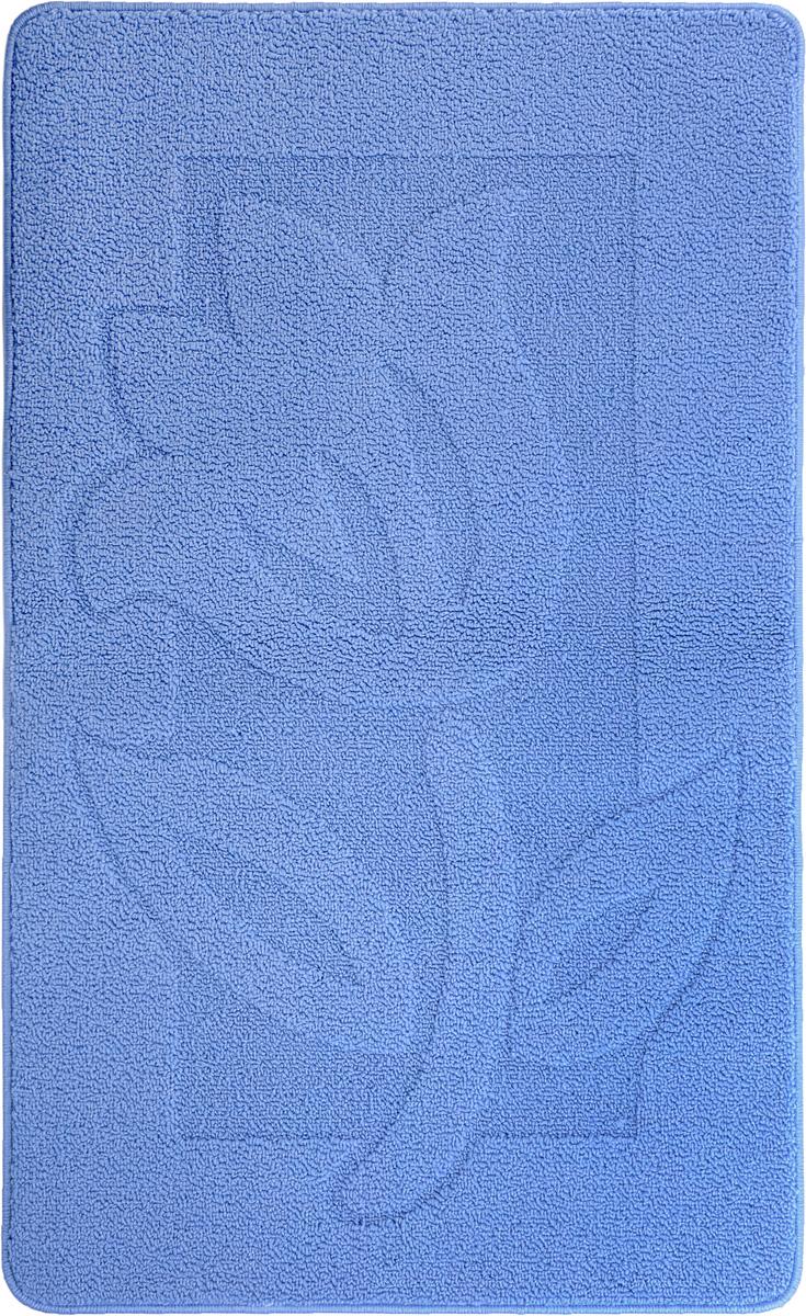 Коврик для ванной Kamalak Tekstil, цвет: синий, 60 x 100 смУКВ-1005_синийКовер Kamalak Tekstil изготовлен из прочного синтетического материала heat-set, улучшенного варианта полипропилена (эта нить получается в результате его дополнительной обработки). Полипропилен износостоек, нетоксичен, не впитывает влагу, не провоцирует аллергию. Структура волокна в полипропиленовых коврах гладкая, поэтому грязь не будет въедаться и скапливаться на ворсе. Практичный и износоустойчивый ворс не истирается и не накапливает статическое электричество. Ковер обладает хорошими показателями теплостойкости и шумоизоляции. Оригинальный рисунок позволит гармонично оформить интерьер ванной комнаты. За счет невысокого ворса ковер легко чистить. При надлежащем уходе синтетический ковер прослужит долго, не утратив ни яркости узора, ни блеска ворса, ни упругости. Самый простой способ избавить изделие от грязи - пропылесосить его с обеих сторон (лицевой и изнаночной). Влажная уборка с применением шампуней и моющих средств не противопоказана. ...