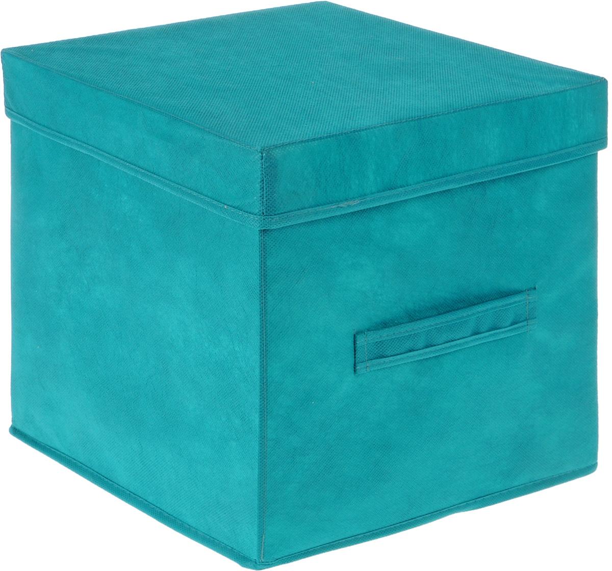 Коробка для вещей Все на местах Париж, с крышкой, цвет: бирюзовый, 30 х 30 х 30 см1012036Коробка с крышкой Все на местах выполнена из высококачественного нетканого материала, который обеспечивает естественную вентиляцию и предназначен для хранения вещей или игрушек. Он защитит вещи от повреждений, пыли, влаги и загрязнений во время хранения и транспортировки. Размер коробки: 30 х 30 х 30 см.