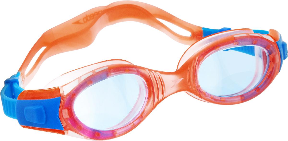 Очки для плавания Speedo Futura Biofuse, детские, цвет: оранжевый, голубой12339106