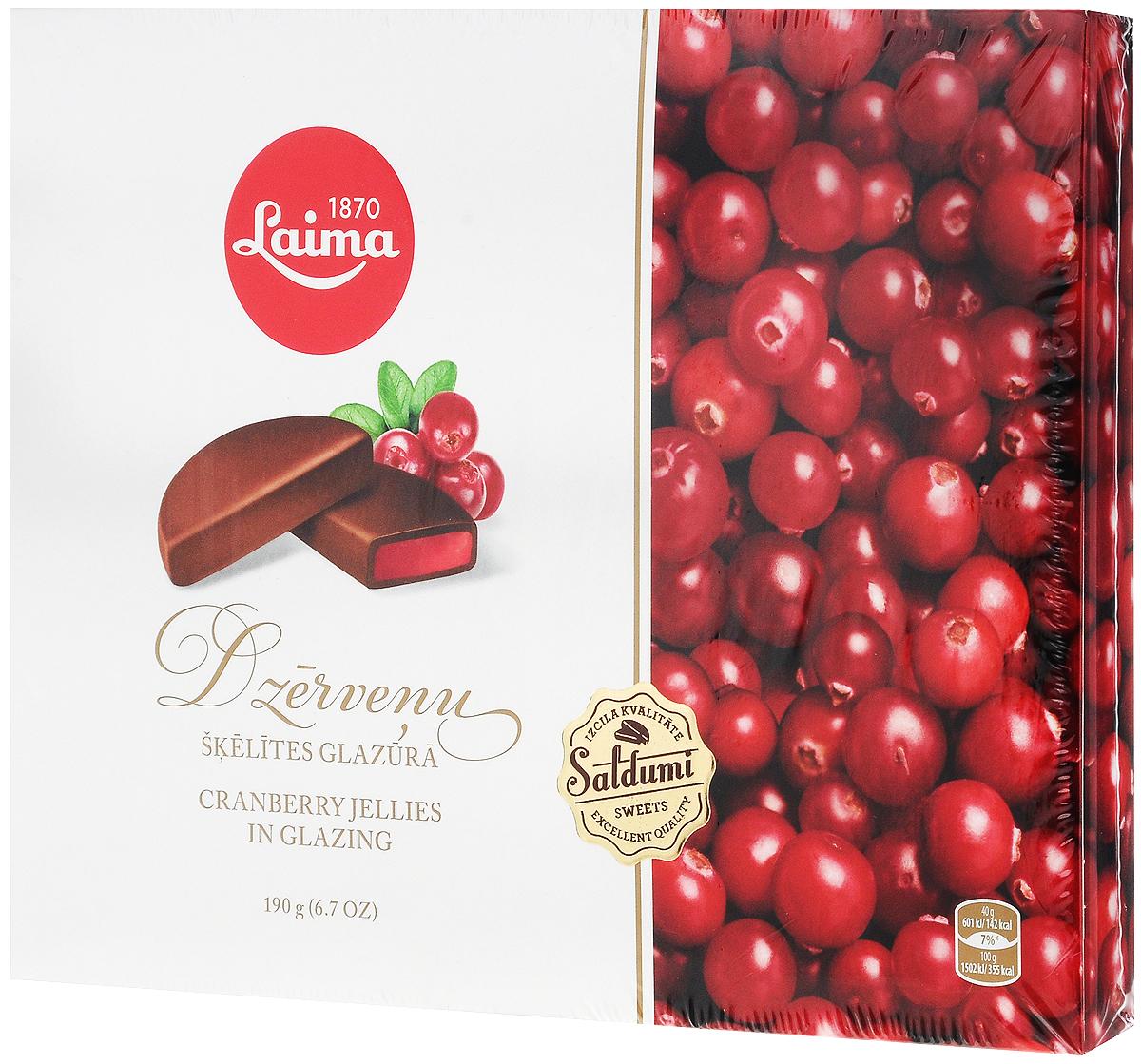 """Laima """"Клюквенные дольки в глазури"""" мармелад в шоколаде, 190 г P220401412"""