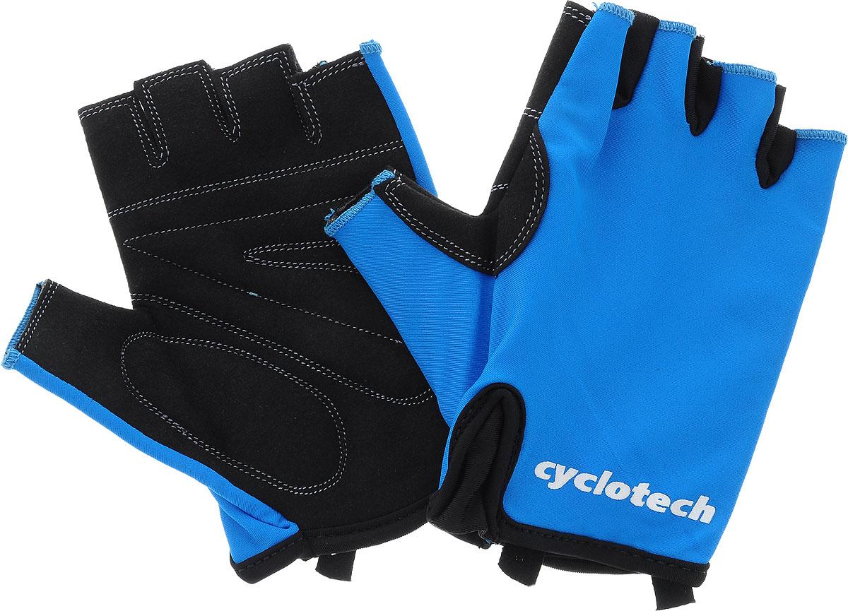 Велоперчатки Cyclotech Wind Bike, цвет: черный, синий. Размер MAG-Cycling shoes-26-29Велоперчатки Cyclotech Wind Bike отлично садятся по руке. Ладонь выполнена из полиэстера, тыльная сторона изготовлена из эластана. Благодаря резинке перчатки легко надевать. Перчатки хорошо вентилируются, не дают руке скользить на руле и гасят неприятные вибрации.