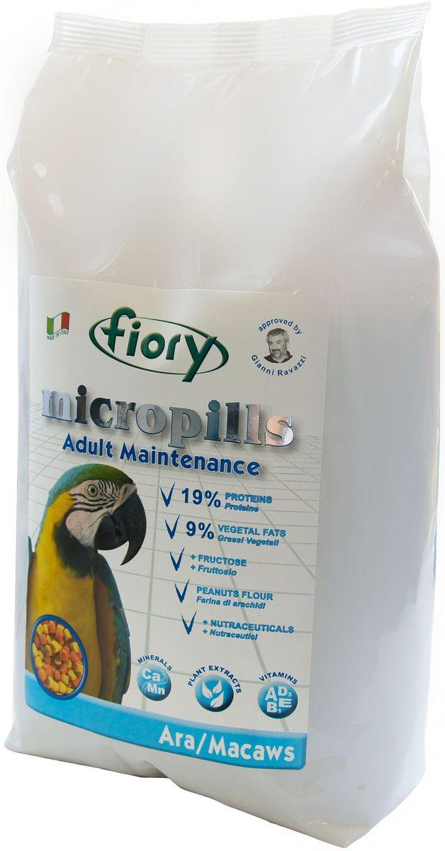 Корм сухой Fiory Micropills Ara/Macaws, для попугаев Ара, 1,4 кг0430Fiory Microppils Ara полноценный корм, созданный на основе пищевых потребностей взрослых попугаев Ара. Продукт содержит необходимое для данного вида попугаев повышенное количество белка (19%) и жира (9%). В качестве важного природного источника углеводов в данном корме используется фруктоза. Живой глютен пшеницы хорошо переваривается организмом птицы и служит отличным источником белка. Уникальная технология экструзии без применения высоких температур позволяет сохранить питательные вещества исходных компонентов. Бисквитная, рисовая и арахисовая мука придают корму высокую вкусовую привлекательность. Комплекс нутрицевтиков (дрожжи, инулин Цикория, фруктоолигосахариды, бета-глюканы, Омега-3 и Омега-6 жирные кислоты, титрованные растительные экстракты и др.) способствует правильному пищеварению, укрепляет иммунную систему, повышает усвоение минеральных веществ, улучшает работу сердца и сосудов, играет важную роль в развитии головного мозга и зрения, способствует...
