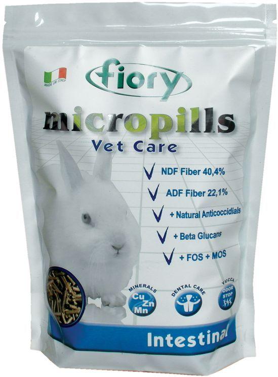 Корм сухой Fiory Micropills Vet Care Intestinal, для карликовых кроликов, 850 г6305Сбалансированый корм для карликовых кроликов с кишечными заболеваниями инфекционного и не инфекционного характера. Обезвоженная люцерна, экстракты растительного белка – источник белка. Древесный уголь. Обогащен с эфирными маслами 0,6% - профилактика кокцидиоза. Комплекс нутрицевтиков для правильного развития. Витамины и хелатные минералы. Исключает пищевое селективное поведение. Пеллеты одинакового размера. Вес: 850 г. Упаковка с замком зип-лок.Обезвоженная люцерна, грубый фураж и производные, древесный уголь, семена маслосодержащих фруктов и производные, экстракт растительного белка, сушеные плоды рожкового дерева, порошок молочной сыворотки, минералы и производные, ароматизаторы и консерванты, одобренные EC, дрожжи Saccharomyces Cerevisiae (15000 мг/кг), инулин Цикория (3000 мг/кг), клеточные стенки дрожжей Saccharomyces Cerevisiae (MOS 2250 мг/кг), фруктоолигосахариды (ФОС 1500 мг/кг), продукты растительного происхождения (750 мг/кг), бета-глюканы...