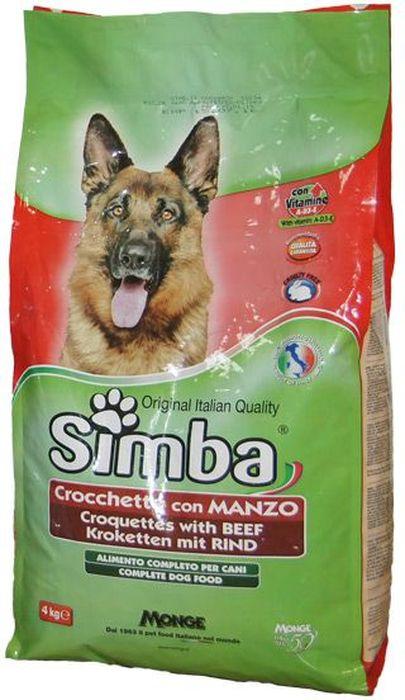 Корм сухой Monge Simba Dog, для собак, с говядиной, 4 кг70009560Simba Dog крокеты для собак с говядиной 4 кг Полнорационный корм для собак. Сухарики с говядиной. Рекомендации по кормлению: можно использовать в сухом виде или размачивать в теплой воде. Рекомендуется использовать суточные дозы в качестве ориентира, и, в случае использования продукта в первый раз, осуществлять изменение режима питания постепенно. Всегда обеспечивайте собаке доступ к свежей чистой воде. Хранить в сухом и прохладном месте.Сырой белок 21%, сырые масла и жиры 8%, сырая зола 9%, сырая клетчатка 4,5%. витамины и добавки на 1 кг: витамин А 10000МЕ, витамин D3 700 МЕ, витамин Е (как альфа-токоферол) 50 мг/кг, сульфат марганца 80 мг (марганец 25 мг), оксид цинка 170 мг (цинк 120 мг), сульфат меди 40 мг (медь 10мг), сульфат железа 290 мг (железо 87 мг), селенит натрия 0,39 мг (селен 0,17мг), йодат кальция 2,20 мг (йод 1,40мг). С антиоксидантами, одобренными ЕС. Энергетическая ценность: 3520 ккал/кгЗлаки, мясо и мясные субпродукты (говядина мин. 4,1%),...
