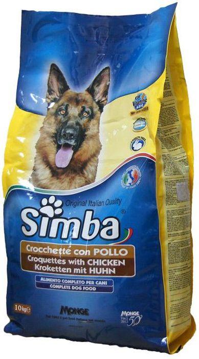 Корм сухой Monge Simba Dog, для собак, с курицей, 10 кг0120710Simba Dog крокеты для собак с курицей 10 кг Полнорационный корм для собак. Сухарики с курицей.Рекомендации по кормлению: можно использовать в сухом виде или размачивать в теплой воде. Рекомендуется использовать суточные дозы в качестве ориентира, и, в случае использования продукта в первый раз, осуществлять изменение режима питания постепенно. Всегда обеспечивайте собаке доступ к свежей чистой воде.Хранить в сухом и прохладном месте.Сырой белок 21%, сырые масла и жиры 8%, сырая зола 9,5%, сырая клетчатка 4,5%. витамины и добавки на 1 кг: витамин А 10000МЕ, витамин D3 700 МЕ, витамин Е (как альфа-токоферол ацетат) 50 мг, сульфат марганца 80мг (марганец 25мг), оксид цинка 170 мг (цинк 120мг), сульфат меди 40 мг (медь 10мг), сульфат железа 290 мг (железо 87мг), селенит натрия 0,39 мг (селен 0,17мг), йодат кальция 2,20 мг (йод 1,40 мг). С антиоксидантами, одобренными ЕС.Энергетическая ценность: 3520 ккал/кгЗлаки, мясо и мясопродукты (курица мин. 4,1%), овощные субпродукты, масла и жиры, витамины, минеральные вещества.Указанные в таблице суточные нормы кормления не являются обязательными, используйте их в качестве ориентира, а также в случае использования продукта в первый раз, осуществлять изменение режима питания необходимо постепенно. ВАЖНО, чтобы у животного всегда был свободный доступ к свежей и чистой воде. Новый корм рекомендуется вводить постепенно, увеличивая его количество каждый день до полного замещения им старого корма приблизительно через неделю.