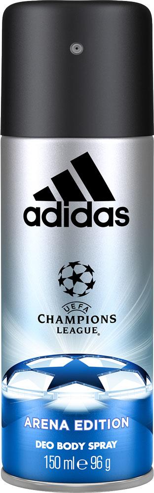 Adidas Парфюмированный део спрей UEFA III мужской, 150 мл340133396443UEFA Champions League отражает основные качества настоящих игроков: стремление к победе, силу воли, горячее желание сделать свою жизнь лучше и играть в ней ключевую роль по своим правилам. Аромат раскрывается нотами бергамота, яблока и розмарина. Они придают композиции взрывную свежесть. Сердце строится вокруг звучания герани и жасмина с ненавязчивым аккордом кориандра. Ноты бобов тонка и пачули создают мощную теплую базу аромата, приправленную мускусом, который продлевает звучание парфюмерной композиции.