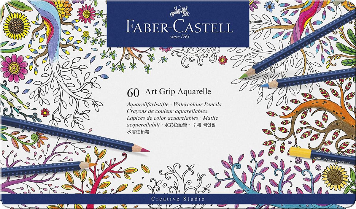 Faber-Castell Акварельные карандаши Art Grip Aquarelle 60 шт114260Акварельные карандаши Faber-Castell Art Grip Aquarelle прекрасно подойдут для любителей и начинающих художников, которые ценят качество в их увлечении. Акварельные карандаши Art Grip Aquarelle имеют эргономичную трехгранную форму со специальной технологией вклеивания грифеля (SV), что предотвращает его поломку. Грифели этих карандашей с высоким содержанием пигментов, что прекрасно отражается на рисунках, не зависимо от типа бумаги, на которых они наносятся. Каждый карандаш имеет высокую интенсивность цвета. В наборе 60 цветов и оттенков. Все карандаши аккуратно упакованы в жестяную коробку. Такие акварельные карандаши по качеству превосходит стандартные акварельные краски, а значит идеально подходят для создания правильного рисунка. С помощью увлажненной кисточки можно придать потрясающий, интересный и уникальный акварельный эффект любому рисунку, ранее нанесенного с помощью акварельных карандашей. Акварельные карандаши Faber-Castell Art Grip...