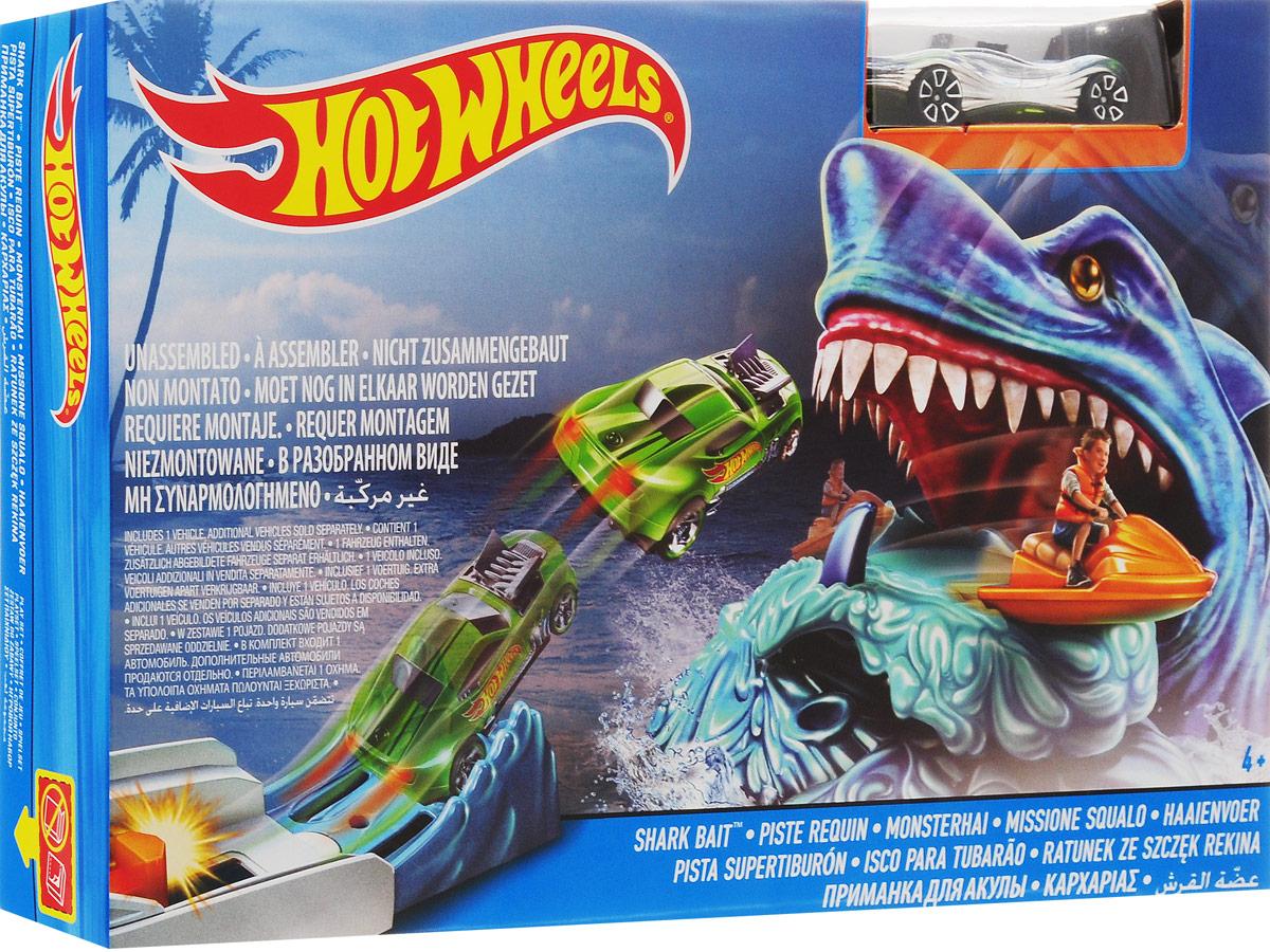 Hot Wheels Игрушечный трек Приманка для акулы DWK94_DWK98