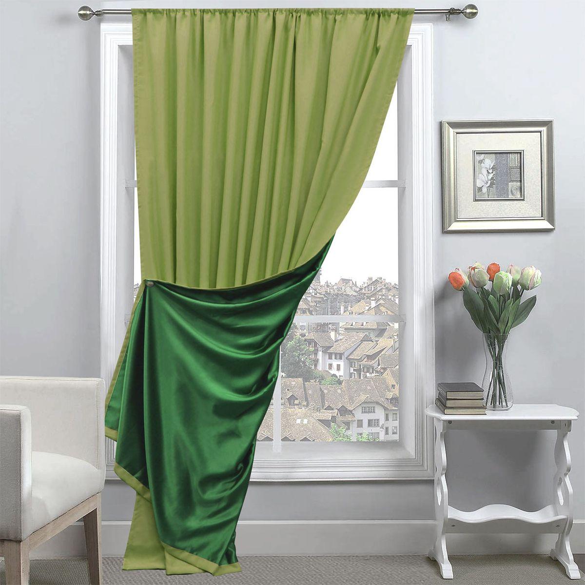 Портьера Amore Mio, 200 х 270 см, 1 шт., цвет: зеленый. 8517485174