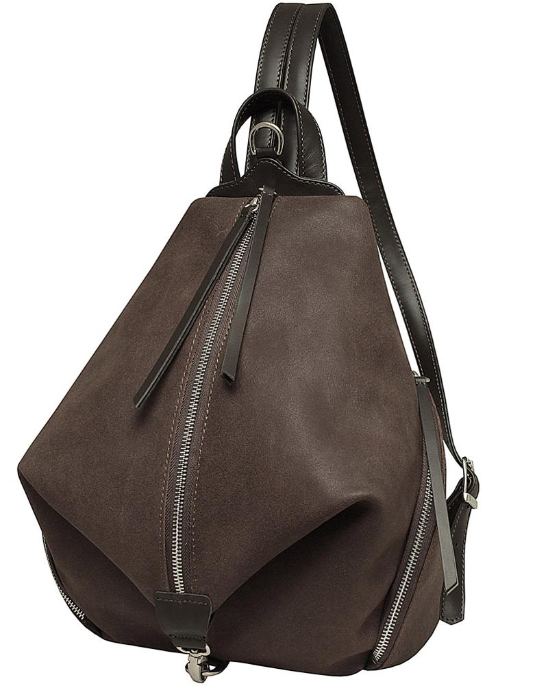 Рюкзак женский Dimanche Синди, цвет: коричневый. 465/35465/35Удобный эргономичный рюкзак оригинальной формы. Внутри имеется карман на молнии. Два больших кармана по бокам и на задней стенке карман на молнии. Лямки регулируются по длине до 65 см.