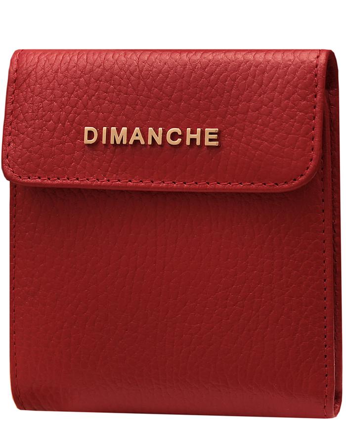 Портмоне женское Dimanche Премиум, цвет: красный. 594/33/G594/33/GСтильный кошелек из натуральной кожи. Внутри для купюр 2 открытых отделения и третье на молнии, 3 кармашка для визиток/кредиток и карман для мелочи на кнопочке. Упакован в подарочную коробочку.