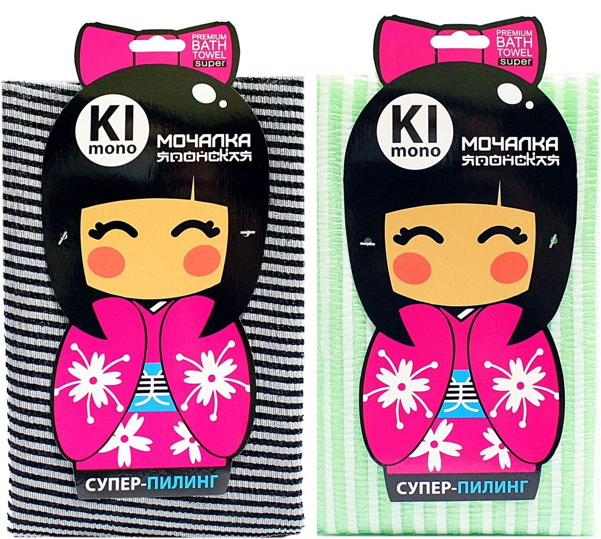 Мочалка-полотенце Eva Kimono, полоса. М341315010777142037Оригинальная позиция для ценителей японских мочалок, специальная текстура материала обеспечивает деликатное воздействие.