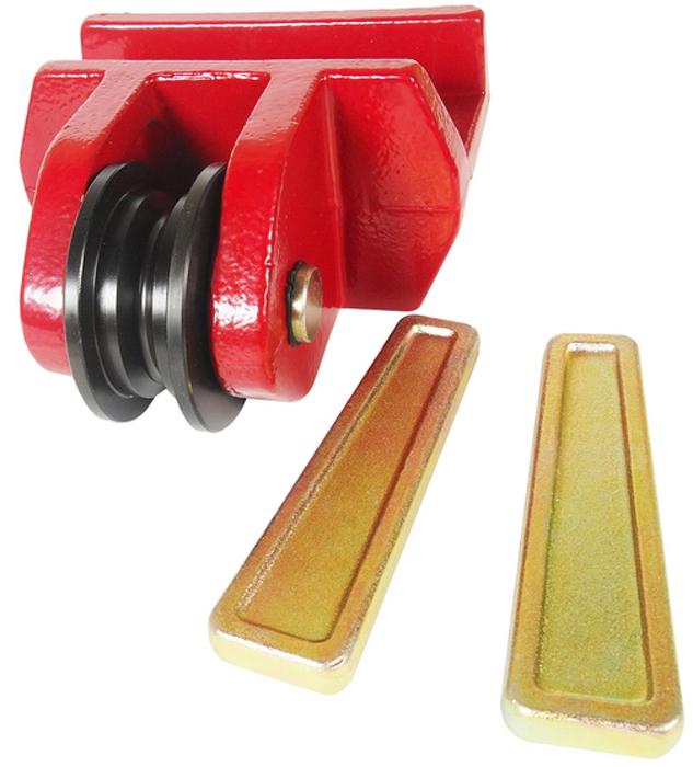 """JTC Шкив для цепей размером 5/16 и 3/8, 2 фиксирующих штифта. JTC-8P1102706 (ПО)Используется с цепями 5/16"""" и 3/8"""". В комплекте два фиксирующих штифта. Кронштейн обладает подвижностью для эффективного выполнения кузовных работ.Габаритные размеры: 215/205/120 мм. (Д/Ш/В)Вес: 8940 гр."""