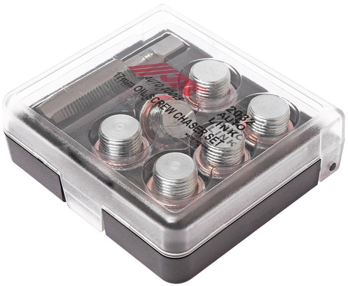 JTC Набор для ремонта маслосливных отверстий, 17 мм. JTC-2032JTC-2032Применяется для ремонта поврежденной или сорванной резьбы маслосливных отверстий двигателя размером 16 мм. Для восстановления резьбы используется метчик 17 мм. Затем ввинчивается заглушка 17 мм. с шайбой В комплекте: Метчик: М17х1.5 (1 шт.) Заглушки: М17 (6 шт.) Шайба медная: М17 (6 шт.) Габаритные размеры: 105/95/30 мм. (Д/Ш/В) Вес: 307 гр.