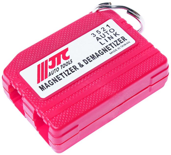 JTC Намагничиватель/размагничиватель инструментов. JTC-3521JTC-3521Используется для намагничивания/размагничивания инструмента и отдельных деталей: саморезов, гаек, болтов, шайб. Применение: для намагничивания провести инструментом вдоль нижнего квадратного отверстия со знаком (+). Для размагничивания провести инструментом вдоль верхнего отверстия со знаком (-). Если инструмент не полностью размагнитился, что зависит от качества стали и диаметра, то необходимо повторить процедуру. Количество в оптовой упаковке: 25 шт. и 250 шт. Габаритные размеры: 130/90/20 мм. (Д/Ш/В) Вес: 65 гр.