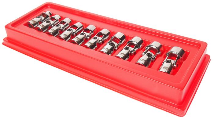 JTC Набор головок торцевых с карданом 3/8 6-гранных 10-19 мм. JTC-3605JTC-3605В комплекте: 10, 11, 12, 13, 14, 15, 16, 17, 18, 19 мм. Набор удобен для выполнения различных работ при обслуживании транспортных средств и промышленного оборудования. Головки с шарнирами, предназначенные под ключ 3/8, позволяют выполнять работы в узких и труднодоступных местах. Набор упакован в прочный пластиковый кейс. Габаритные размеры: 310/125/35 мм. (Д/Ш/В) Вес: 725 г.