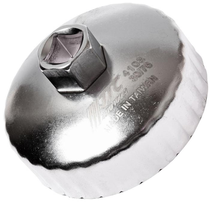 JTC Съемник масляного фильтра. JTC-41032706 (ПО)Предназначен для снятия масляного фильтра в ходе проведения диагностических работ. Форма - 30-гранная чашка. Размеры: 30 граней/76 мм. Применение: Ленд Ровер (Land Rover), Ягуар (Jaguar). Инструмент: 1/2, 21 мм. Количество в оптовой упаковке: 10 шт. и 100 шт. Габаритные размеры: 145/110/50 мм. (Д/Ш/В) Вес: 200 гр.