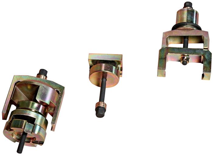 JTC Набор для снятия и установки сайлентблоков подрамника (MERCEDES W211, W219, W230). JTC-42035104Съемник предназначен для замены передних и задних сайлентблоков заднего подрамника.Оригинальный номер ОЕМ: 230589004300. Применение: Мерседес (Mercedes-Benz) W211, W219, W230. Упаковка: прочный металлический кейс. Габаритные размеры: 520/290/180 мм. (Д/Ш/В)Вес: 4500 гр. ПОДРОБНАЯ ВИДЕОИНСТРУКЦИЯ