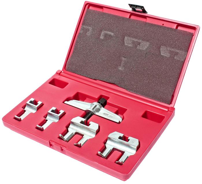 JTC Набор для снятия шкива распредвала VW, AUDI. JTC-4647JTC-4647Набор используется для снятия шкива распределительного вала. Подходит для автомобилей Фольксваген (Volkswagen), Ауди (Audi). Количество в оптовой упаковке: 10 шт. Упаковка: прочный пластиковый кейс. Габаритные размеры: 290/190/50 мм. (Д/Ш/В) Вес: 1620 гр.