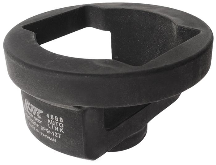 JTC Головка ступичная. JTC-4698JTC-4698Применяется для снятия и установки ступичной гайки. Размеры: под ключ 3/4, M52x2/SW80. Применение: BPW-12T. Габаритные размеры: 125/80/25 мм. (Д/Ш/В) Вес: 1290 гр.