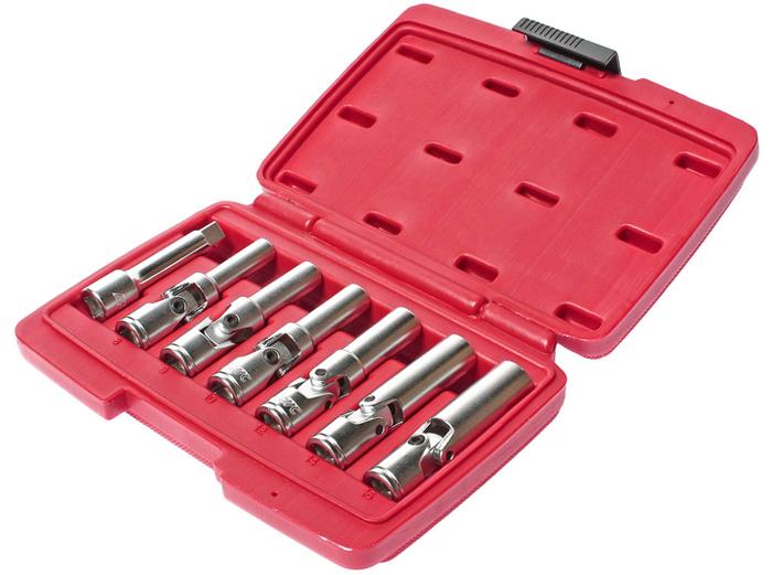 """JTC Набор съемников свечей накаливания для дизельных двигателей, 7 предметов. JTC-47372706 (ПО)Специально предназначены для легкого снятия и установки свеч накаливания. Применяется с инструментом под квадрат 3/8"""" или шестигранник. В комплекте: Съемники универсальные 8, 9, 10, 12, 14, 16 мм., длина съемника: 83 мм. Переходник 3/8""""x3"""" (JTC-3607).Общее количество предметов: 7.Упаковка: прочный переносной кейс.Количество в оптовой упаковке: 20 шт.Габаритные размеры: 210/150/50 мм. (Д/Ш/В)Вес: 820 гр."""