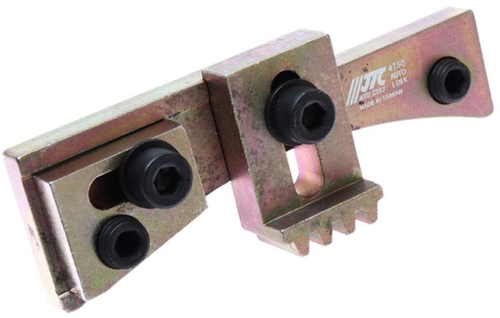 JTC Фиксатор маховика универсальный, диапазон 92-107 мм. JTC-4750JTC-4750Специально предназначен для фиксации маховика при замене коробки передач. Приспособление может быть зафиксировано аксиально и радиально с помощью резьбовых болтов. Диапазон применения: 92-107 мм. Габаритные размеры: 210/90/60 мм. (Д/Ш/В) Вес: 472 гр.